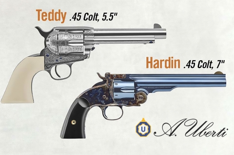 """Uberti Hardin e Teddy: i nuovi revolver della linea """"Outlaws & Lawmen"""""""