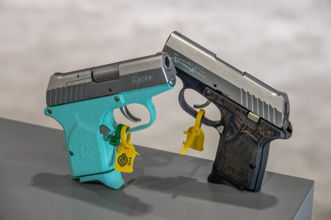 Remington RM380 Micro Light Blue pocket pistol