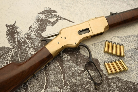 "Uberti Winchester 1866 ""Yellowboy"" rifle, the Gun that Won the West"