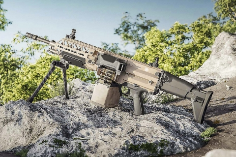 FN EVOLYS 7.62mm and 5.56mm light machine guns