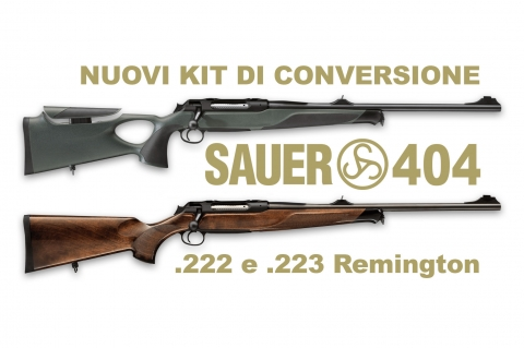 Sauer 404: nuove conversioni nei calibri .222 e .223 Remington