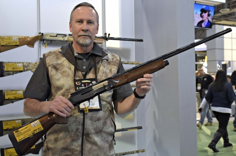 The new Browning A5 Sweet Sixteen hunting shotgun its a 16 gauge version