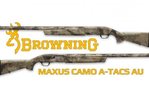 Fucile Browning Maxus Camo A-TACS AU calibro 12 Super Magnum