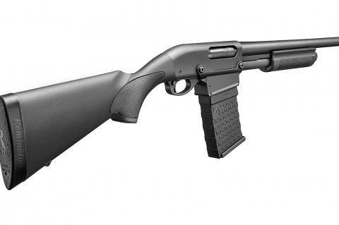 Remington 870 DM: pump action goes magazine fed!