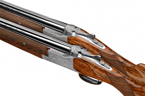 A pair of finely engraved B25 shotgun from the current John Moses Browning Collection series