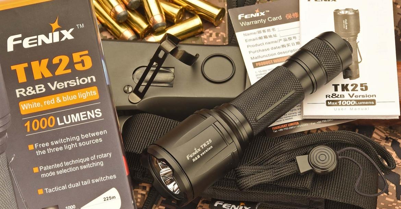 Fenix TK25 R&B: a new 1000-lumen tactical flashlight