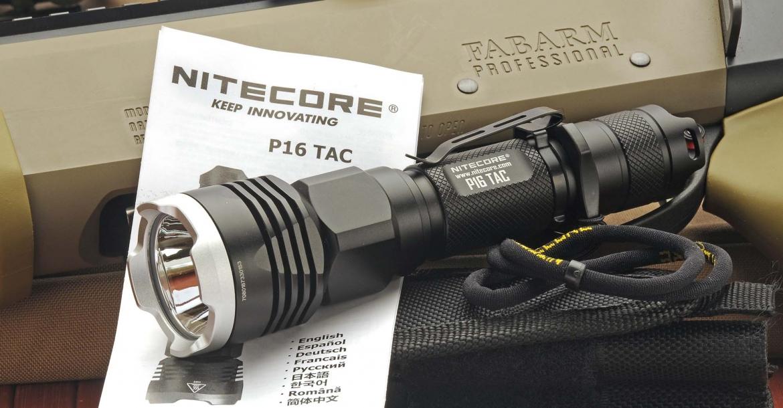 Nitecore P16TAC, la torcia tattica... pronta al servizio!