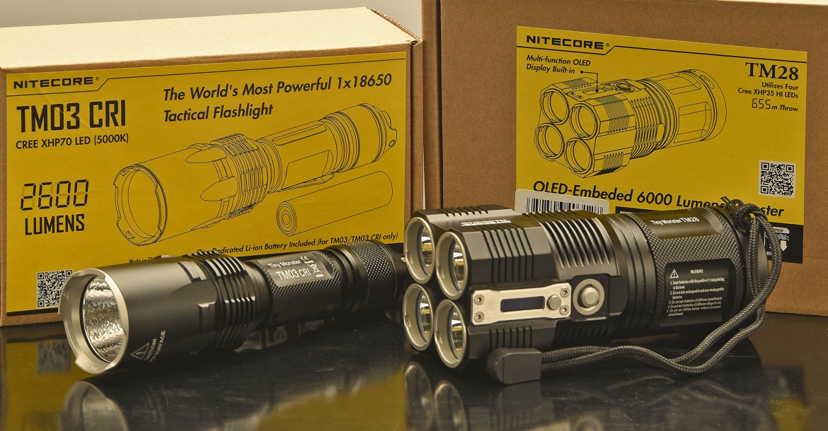 TM03 CRI and TM28: Nitecore's new Tiny Monsters