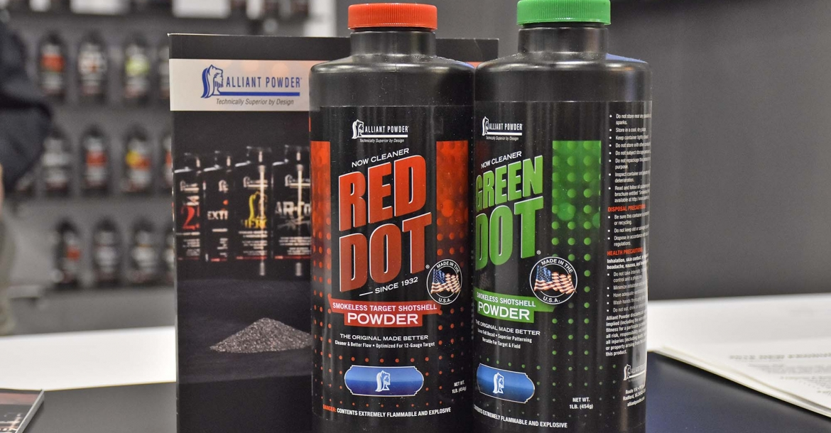 Alliant Powder Green Dot and Red Dot reloading propellants