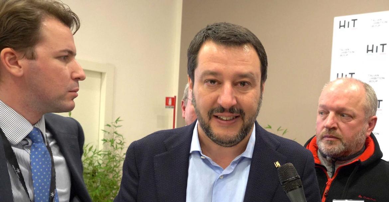 Matteo Salvini a HIT Show 2018: le armi legali non sono un problema