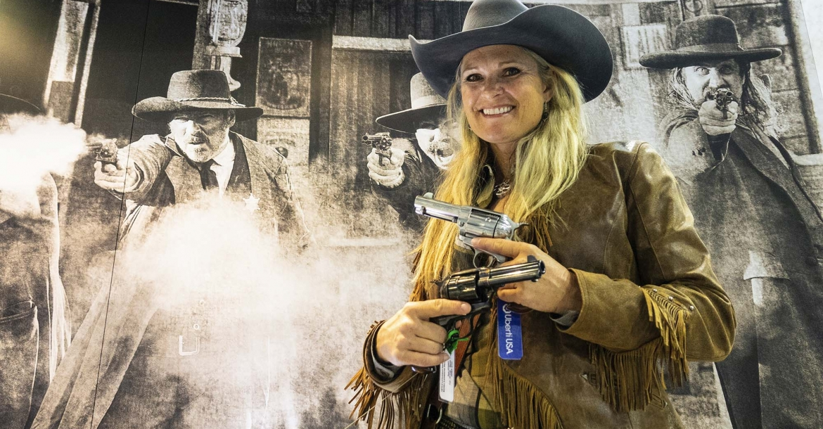 The American Top Shooter Kenda Lenseigne with the new Uberti Short Stroke KL CMS Pro revolvers