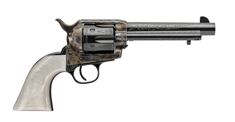 """Revolver Uberti 1873 """"Dalton"""" e fucile 1885 Courteney Stalking"""