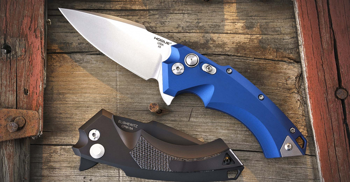 Hogue X5 folding knives series, their latest and most distinct knife of its kind