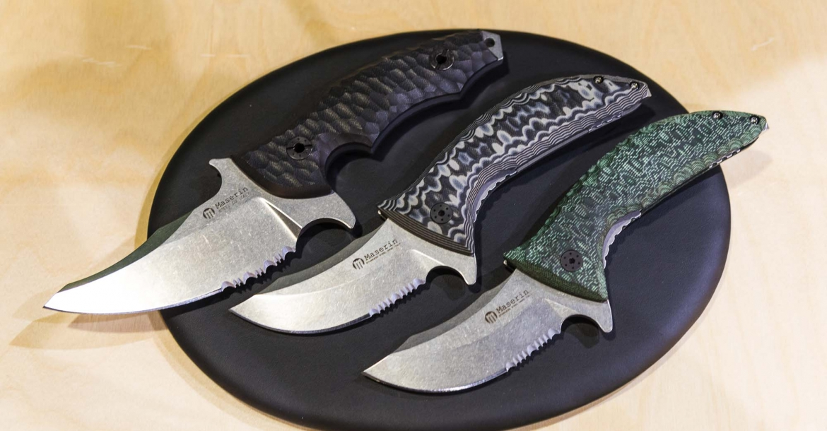 Maserin 640 Ghost and 195/60 'Sessantesimo' knives