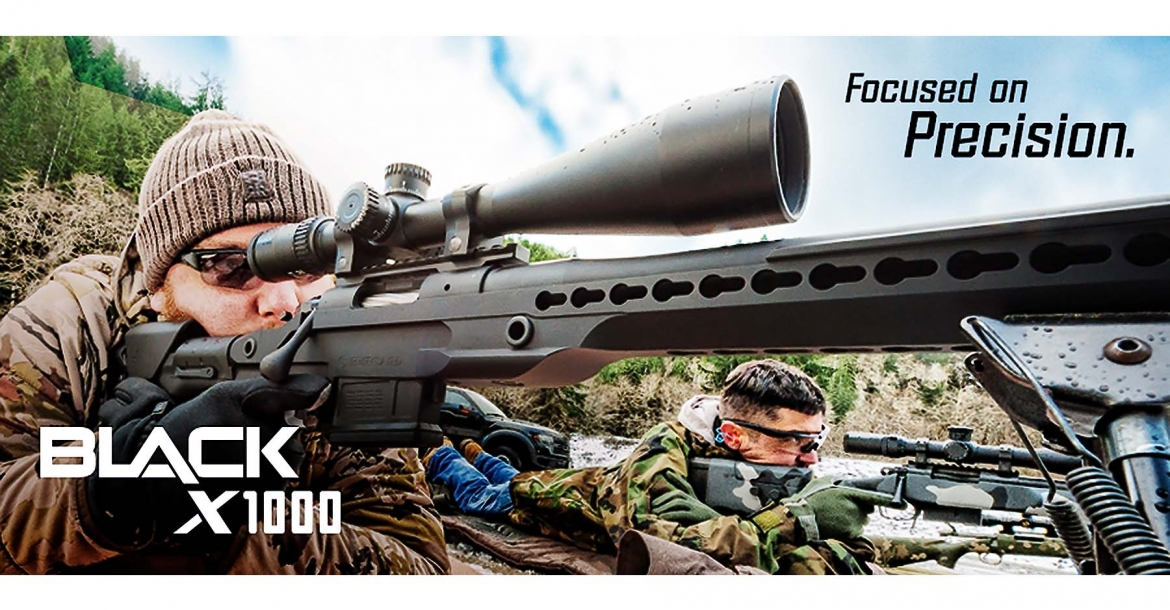 Nikon BLACK X1000 and Nikon BLACKFORCE1000 riflescopes, new from Nikon Sport Optics