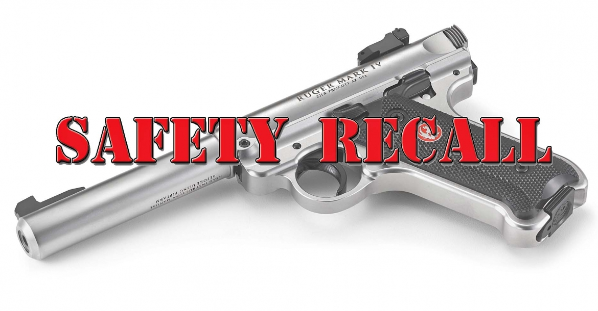 Safety recall issued for Ruger Mark IV pistols