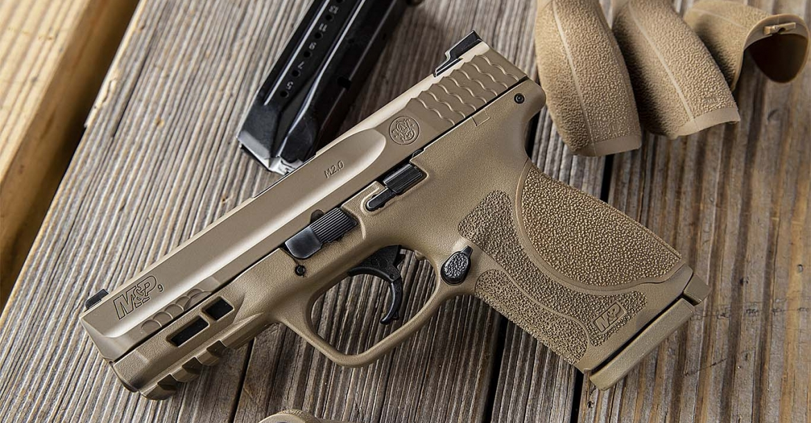 Smith & Wesson M&P M2.0 Compact pistol, now available in Flat Dark Earth