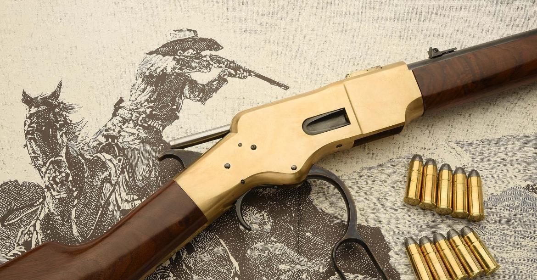 """Il nuovo Uberti Winchester 1866 """"Yellowboy"""", il fucile che conquistòil West americano"""