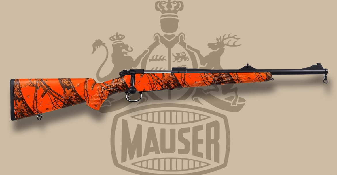 The new blaze orange Mauser M12 Trail hunting rifle