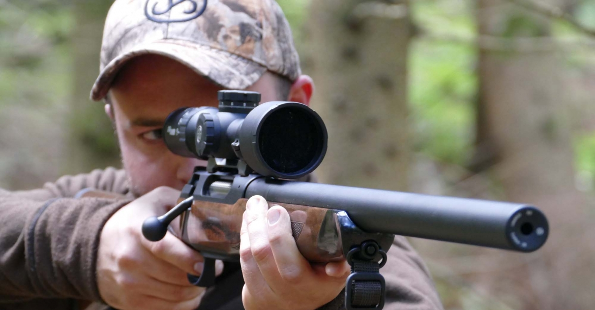 Sauer S404 Silence bolt-action hunting rifle with integral sound suppressor