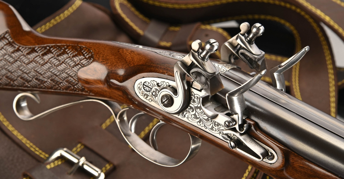 Pedersoli double barrel flintlock shotgun