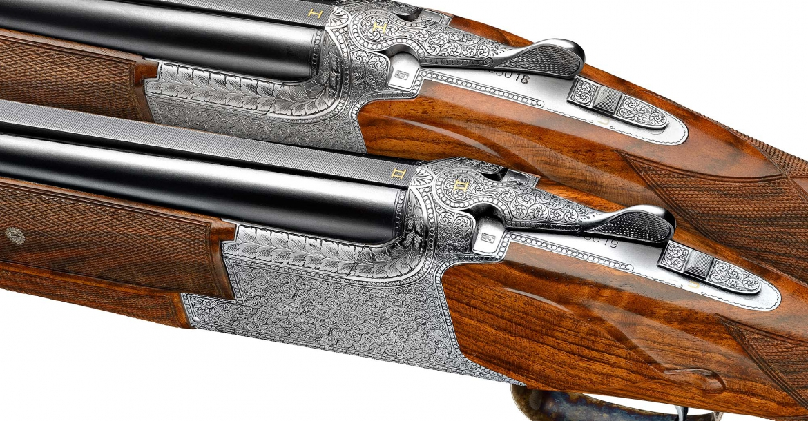 A pair of finely engraved B25 shotguns from the current John Moses Browning Collection series