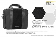 All Nitecore bags are manufactured of 1050D military-grade Cordura