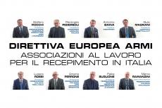Direttiva Europea Armi: le associazioni al tavolo di lavoro per il recepimento in Italia