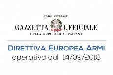 Direttiva Europea Armi: cosa c'è nel decreto di recepimento?
