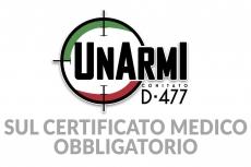 Certificato medico obbligatorio e divieto detenzione armi: note importanti da parte di UNARMI