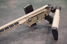 Unlike standard AR-15 variants, the BCM-15 can actually fire with its stock side-folded